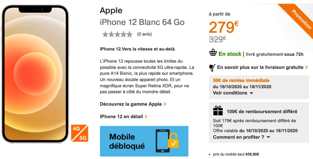 iPhone 12 offre Orange