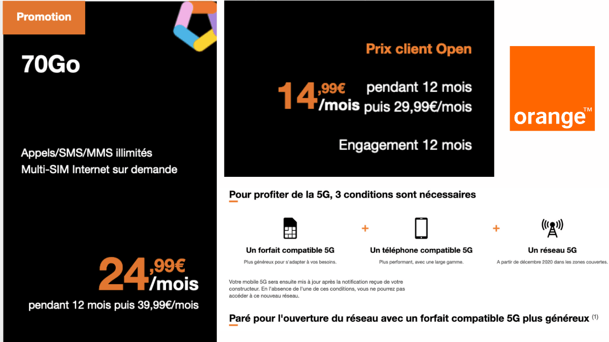 L'offre en 5G de Orange