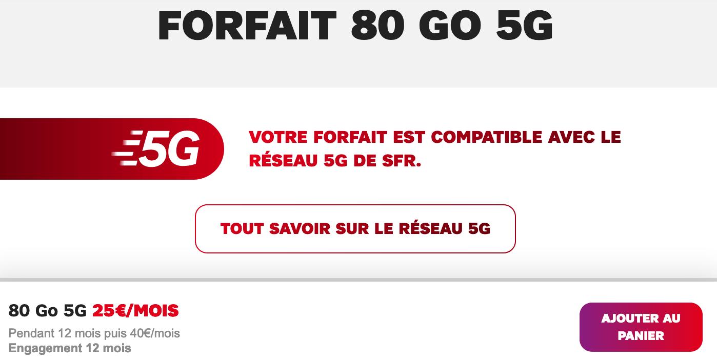 L'offre en 5G de SFR