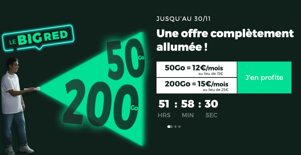 L'offre 200 Go de RED by SFR