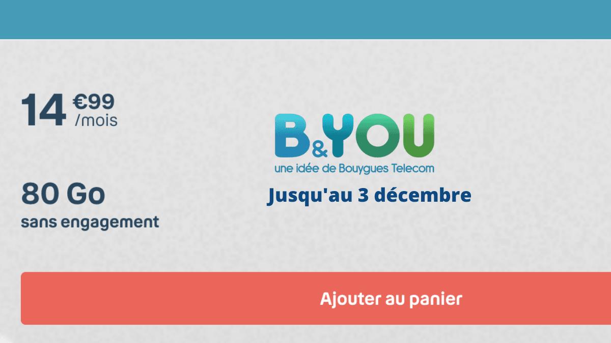 L'offre 80 Go de Bouygues Telecom