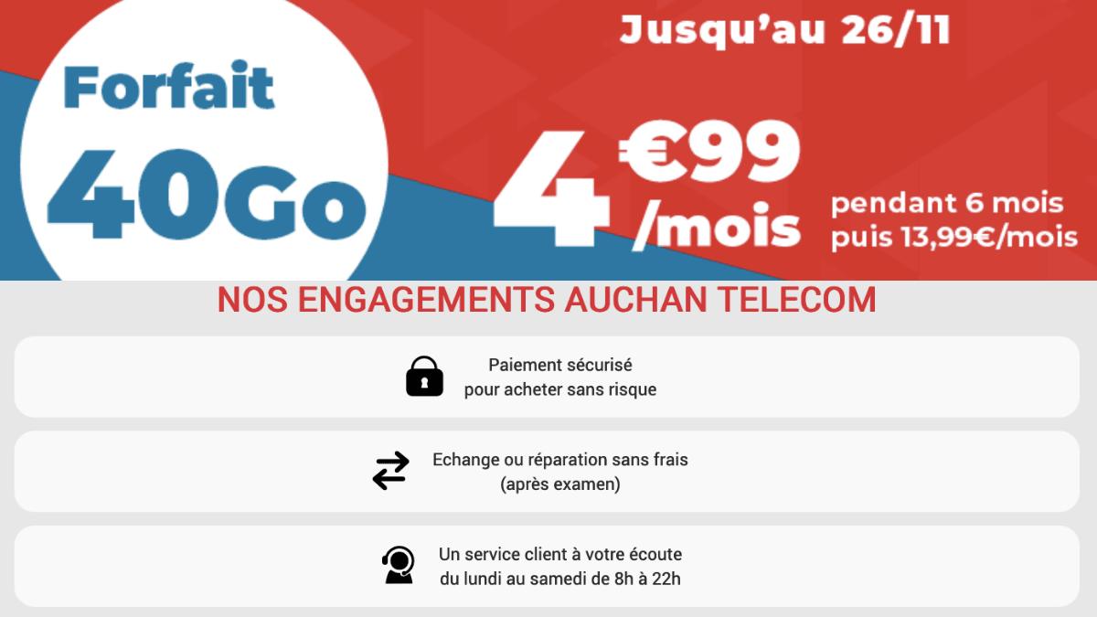 L'offre 40 Go de Auchan Télécom