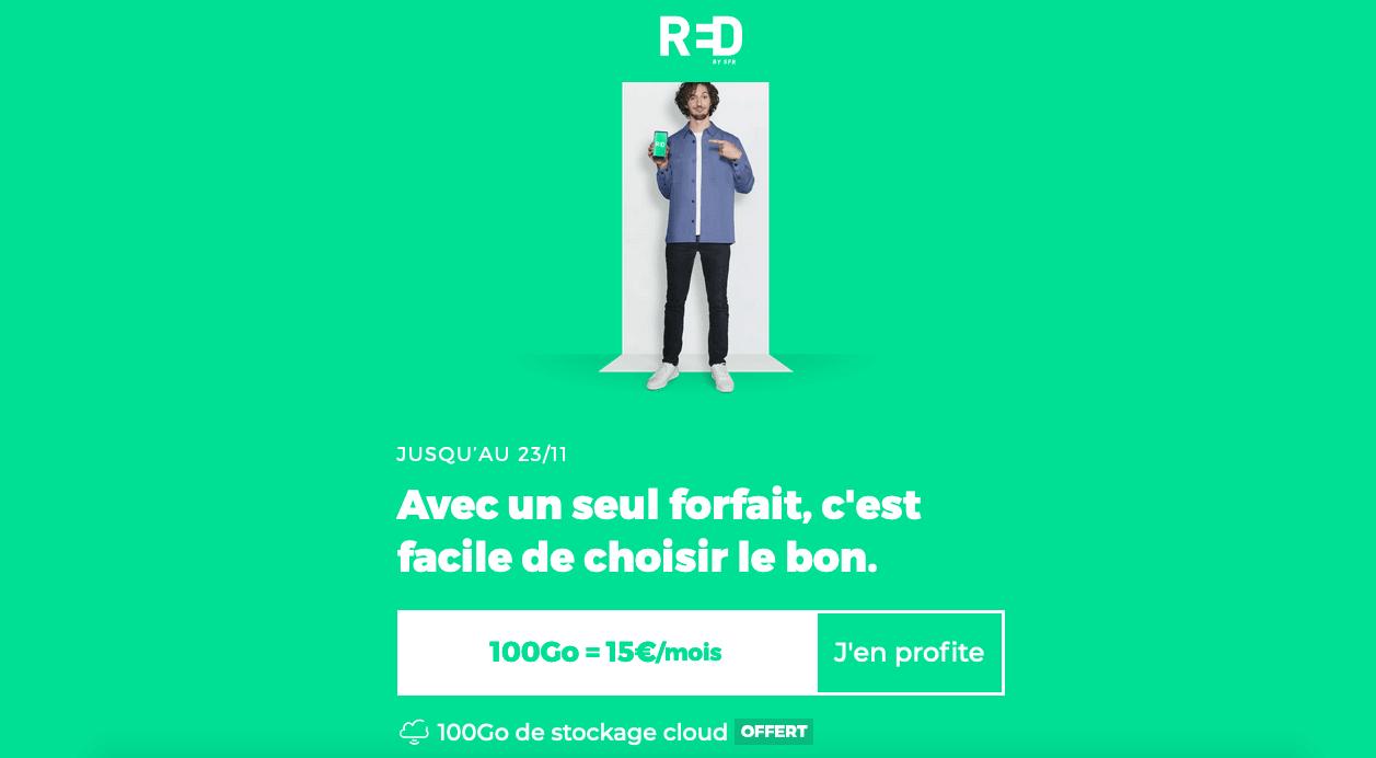 SFR RED forfait 4G 100 Go