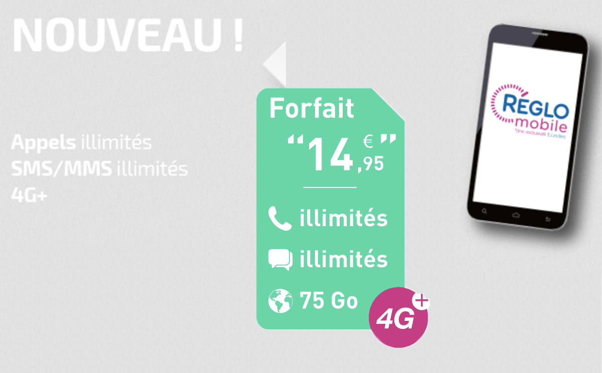 Réglo Mobile forfait 4G +