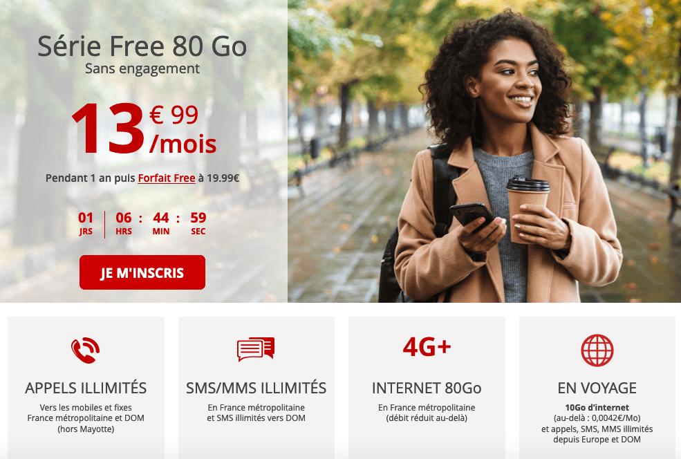Série Free forfait mobile