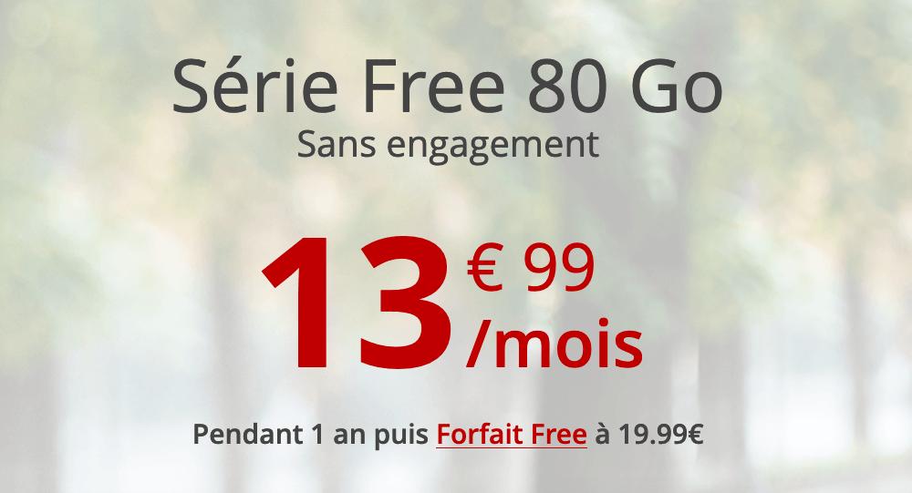 Le forfait mobile Série Free