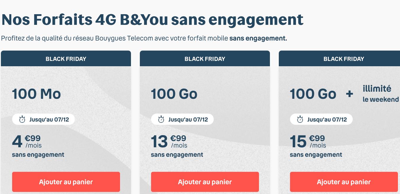 B&YOU : 100 Go d'INternet et Spotify Premium