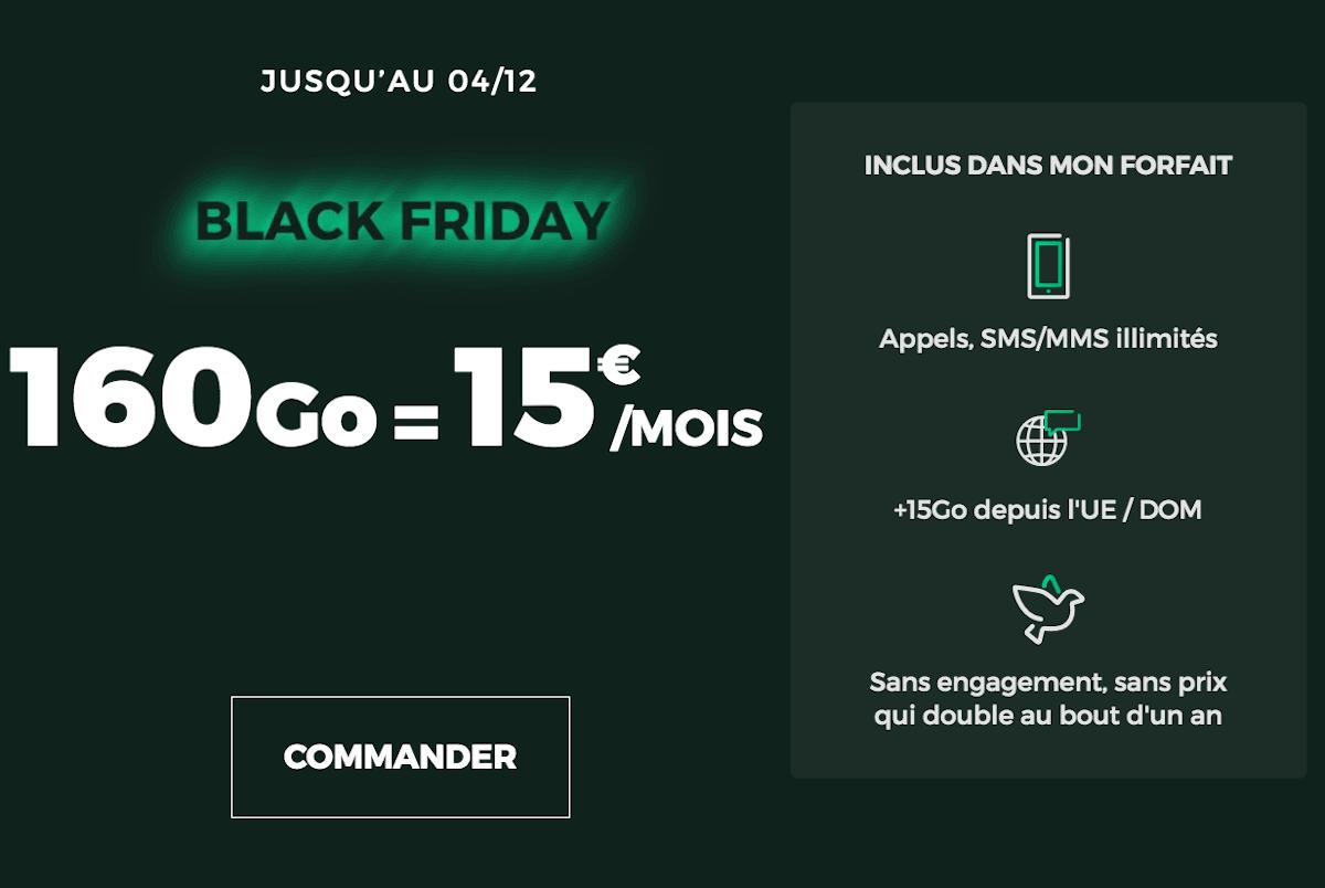 Black Friday offre RED 160 Go 4G illimité