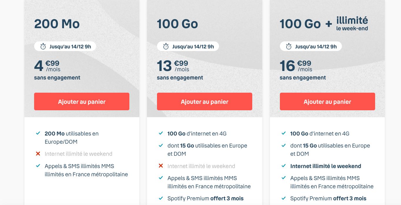 100 Go d'Internet dès 13,99€/mois