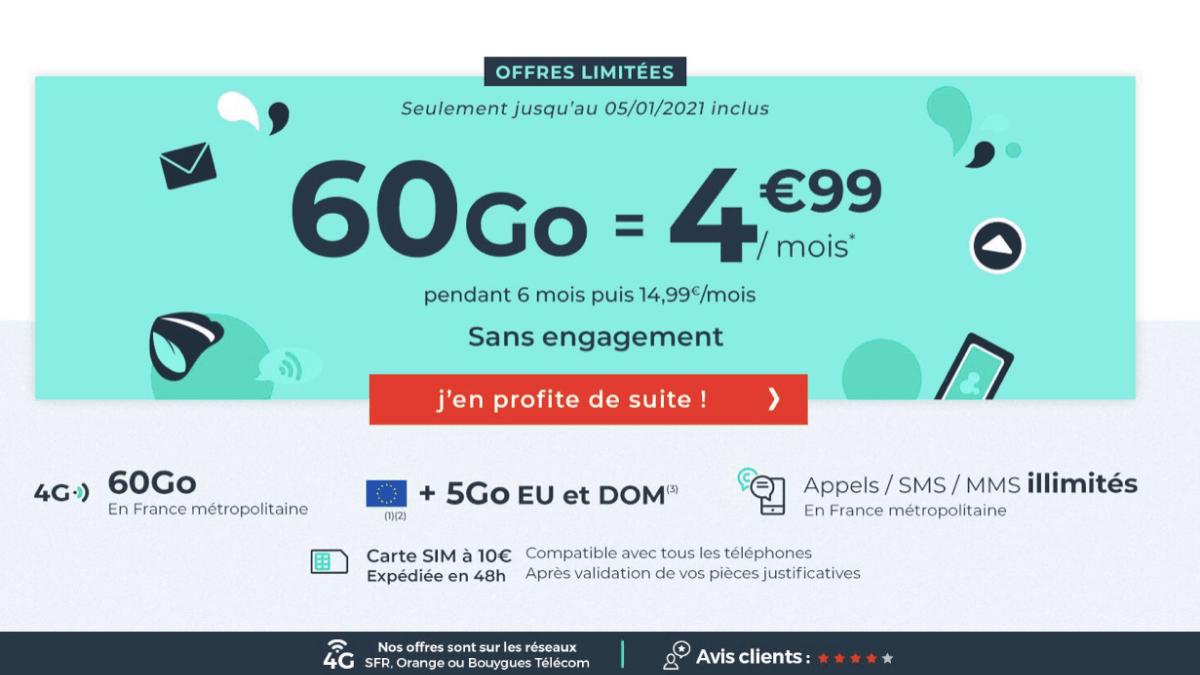 Cdicount Mobile et son forfait de 60 Go sans engagement