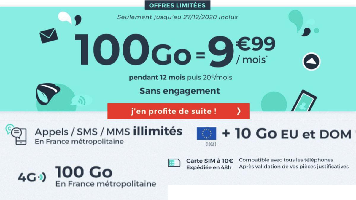 Cdiscount Mobile propose son forfait 4G à 9,99€/mois.