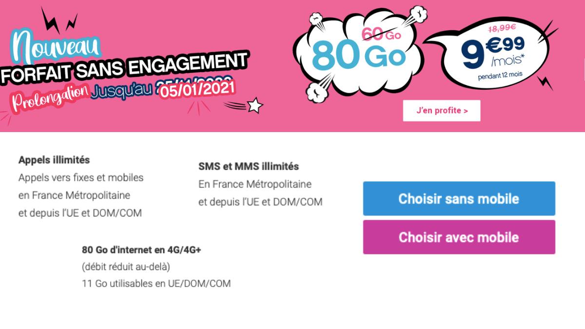 Coriolis Télécom et son forfait 80 Go.