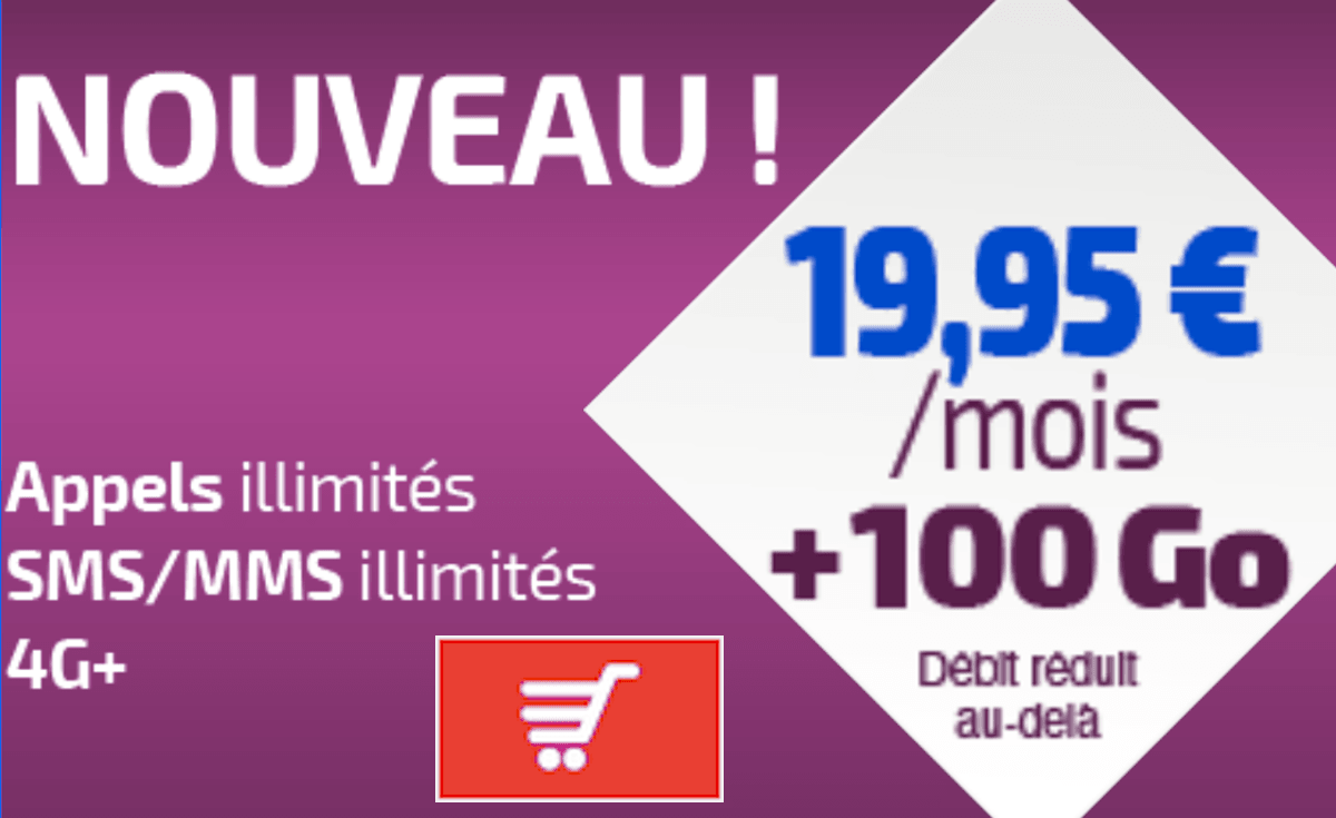 Forfait 100 Go 4G Réglo Mobile