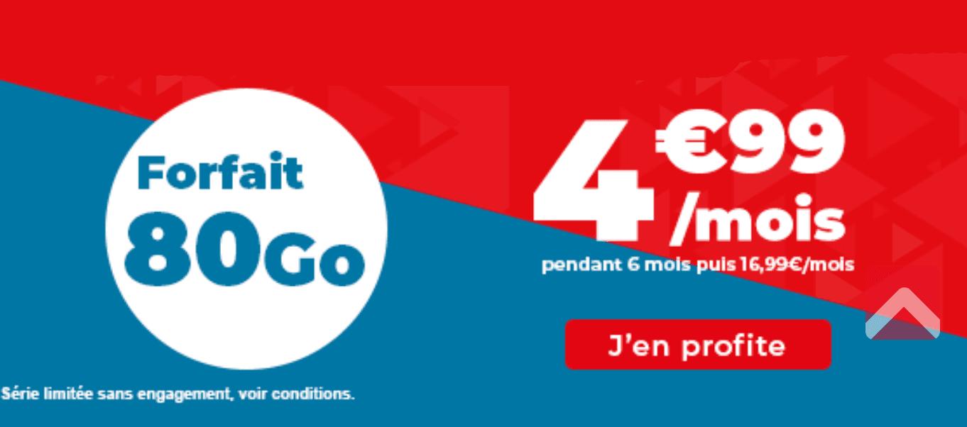 Le forfait 80 Go de chez Auchan