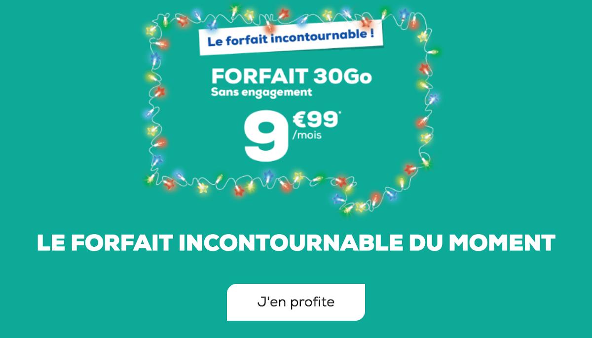 Forfait sans engagement 10€ La Poste Mobile 30 Go