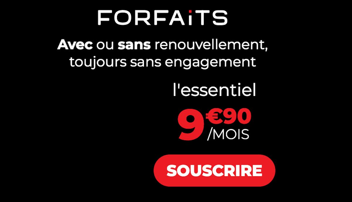 Forfait sans engagement 10€ Syma Mobile L'essentiel 40 Go