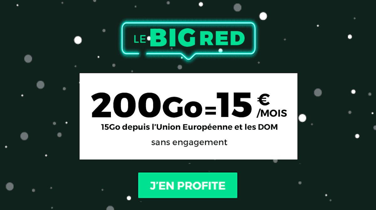 Forfait sans engagement BIG RED by SFR 200 Go