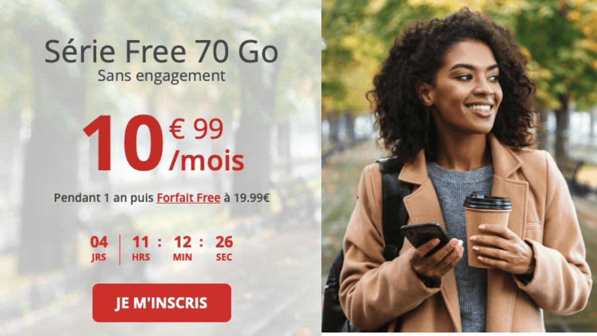 Forfait 70 Go de Free avec la Série Free.