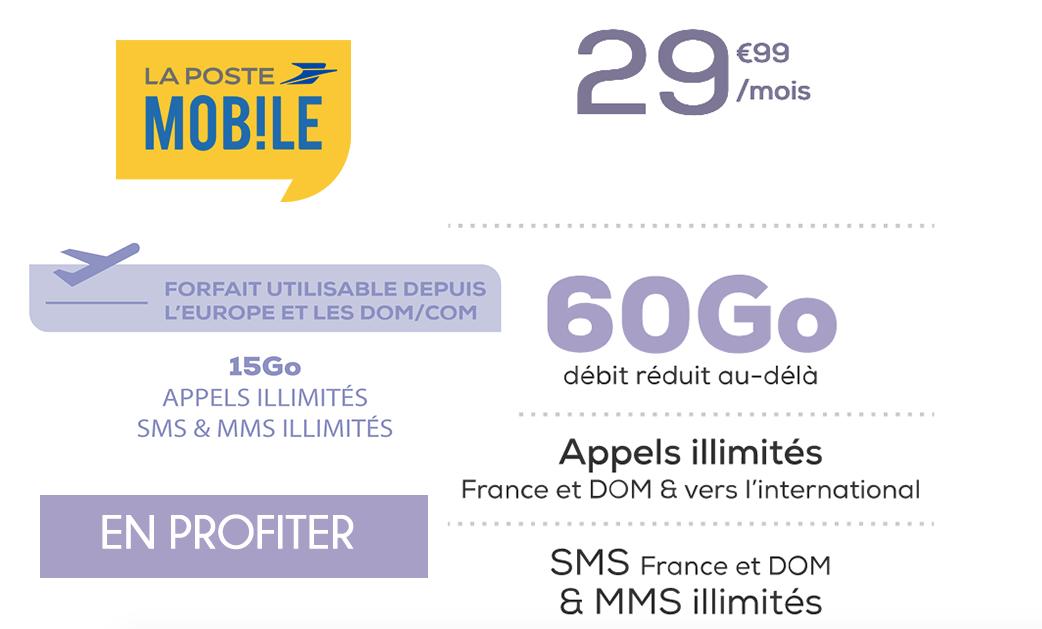 promo forfait 60 Go La Poste Mobile