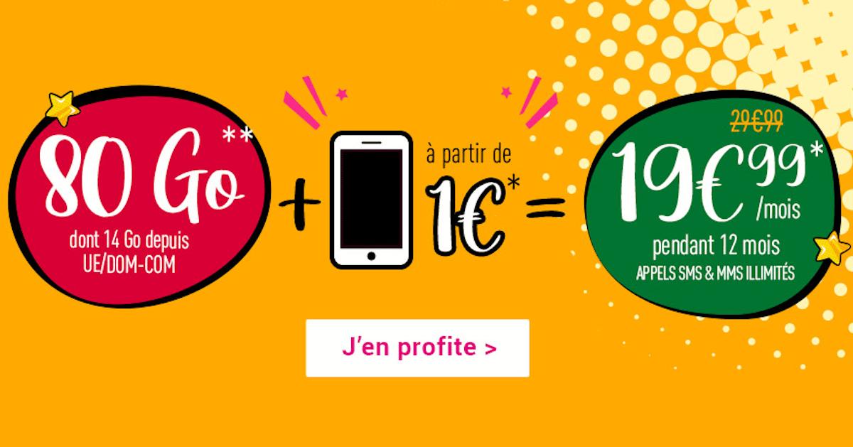 Offres smartphone Coriolis Télécom 1€