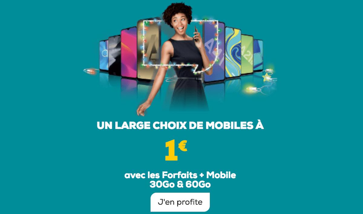 Offres smartphone La Poste Mobile 1€