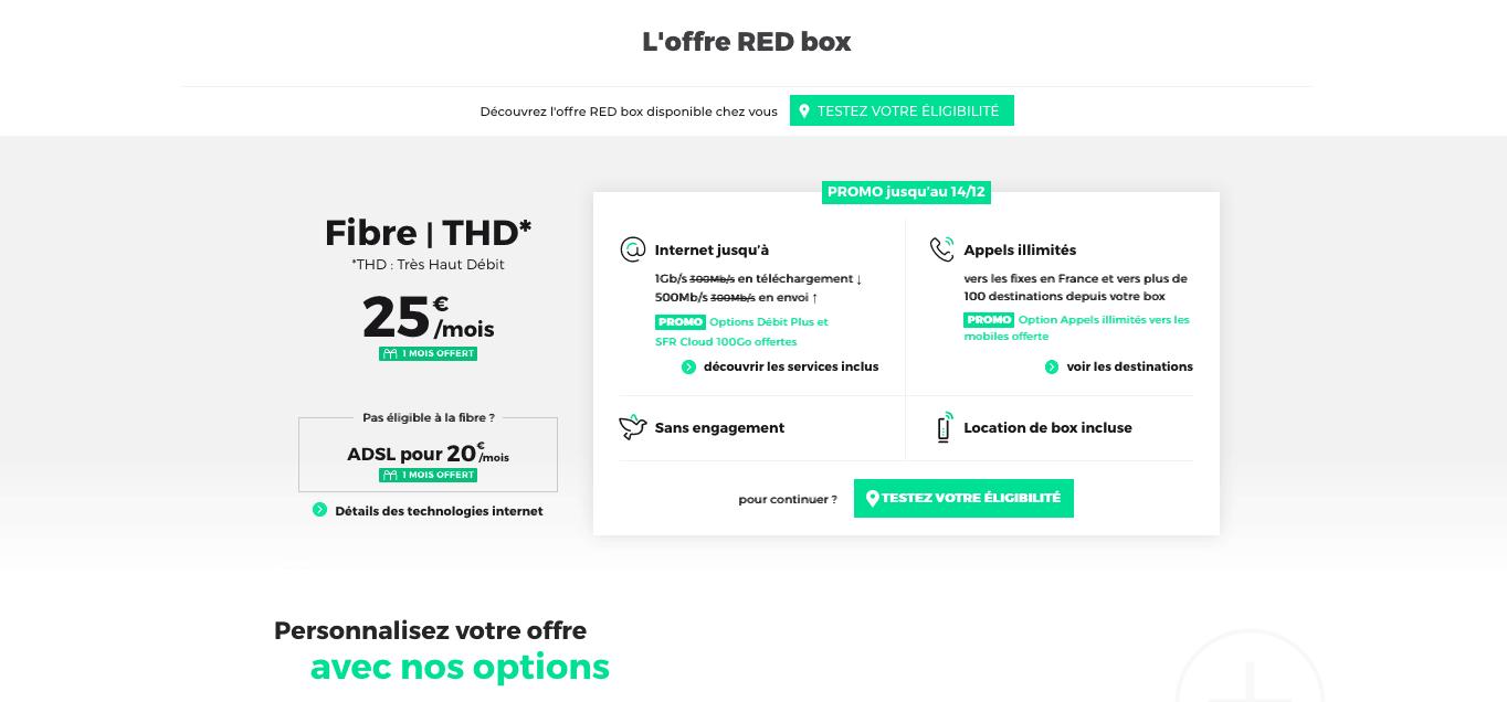 Box internet en dual play à 25€/mois chez RED