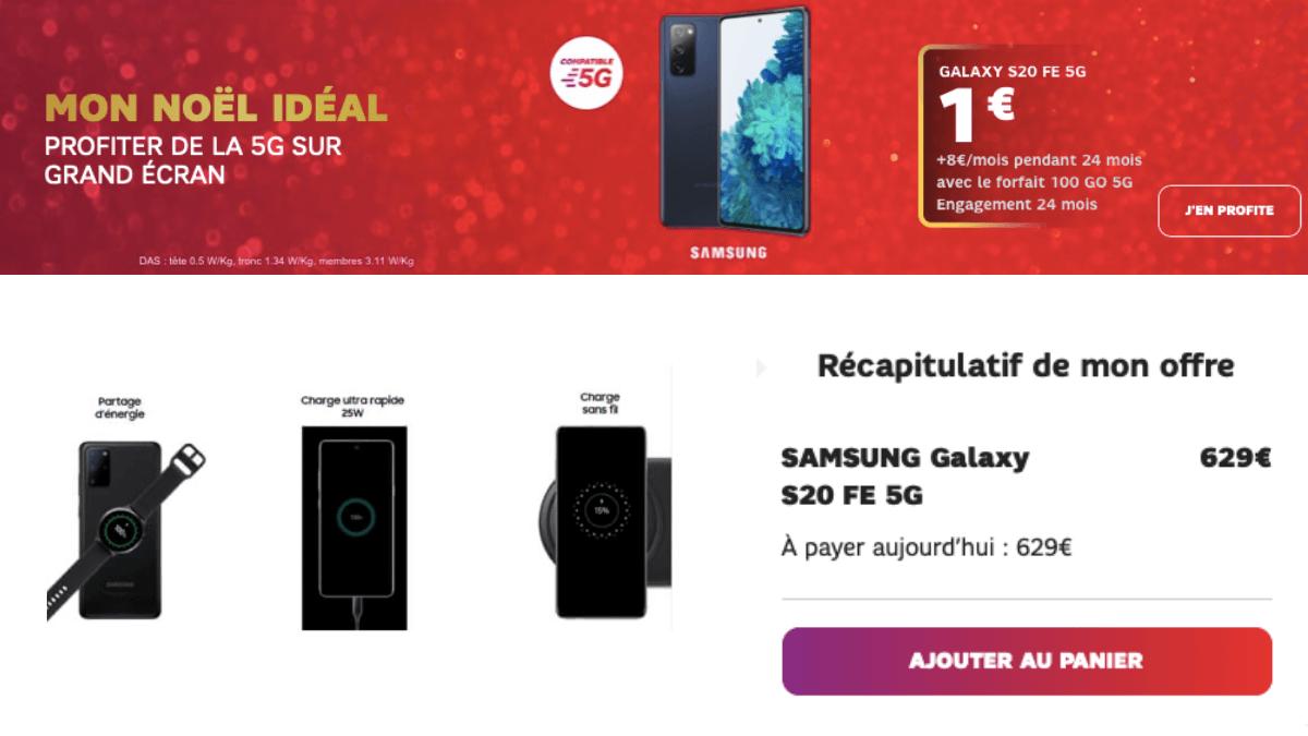 Le Samsung S20 FE 5G en vente chez SFR.