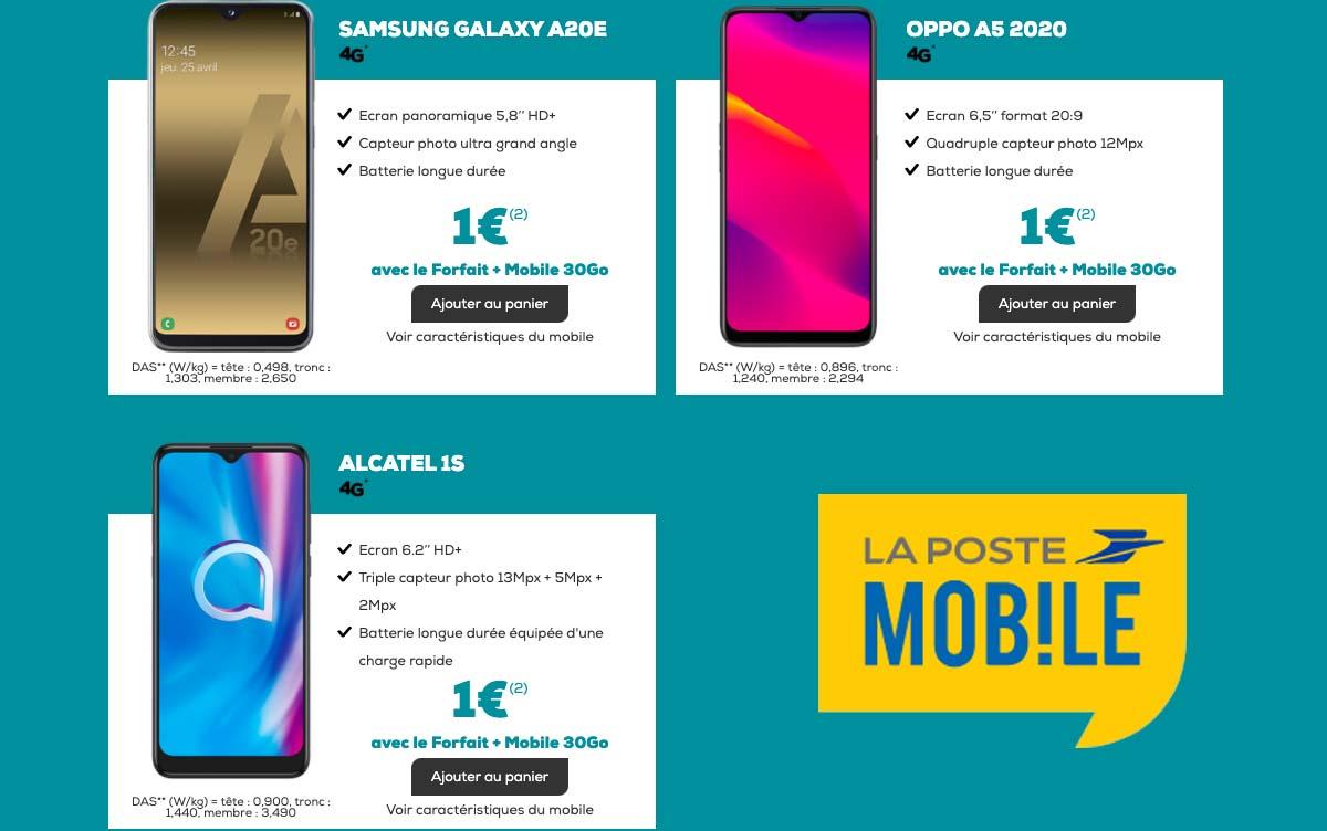 Smartphones un euro chez La Poste Mobile