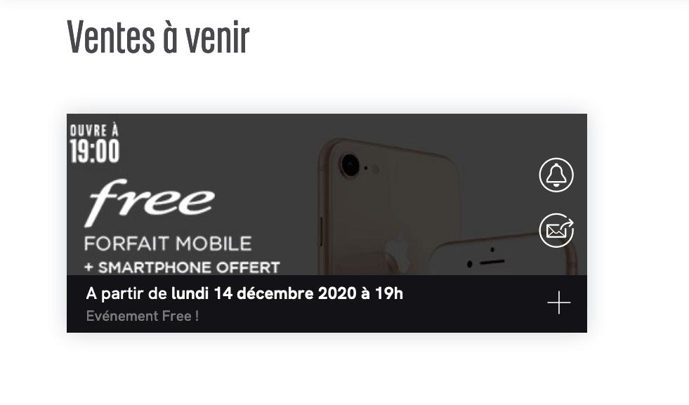 Vente privée Veepee Free
