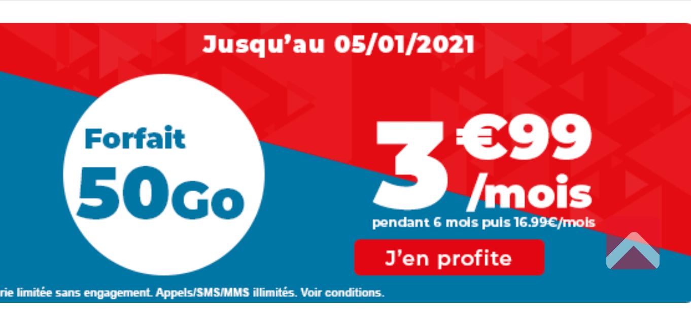 Auchan télécom 3,99€/mois