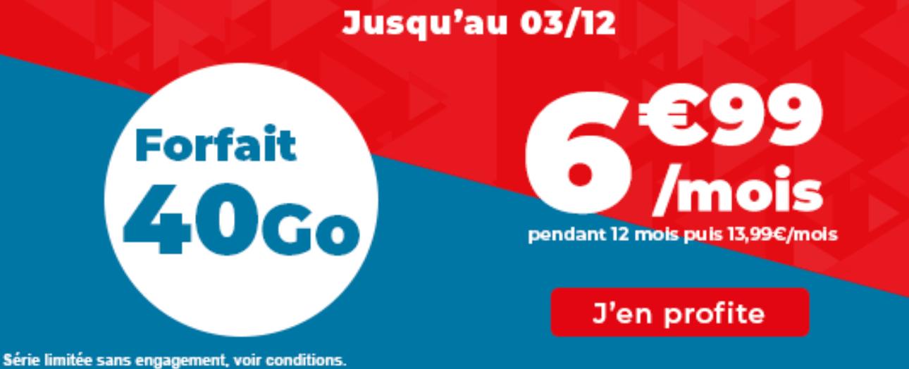 forfait 40 Go Auchan télécom