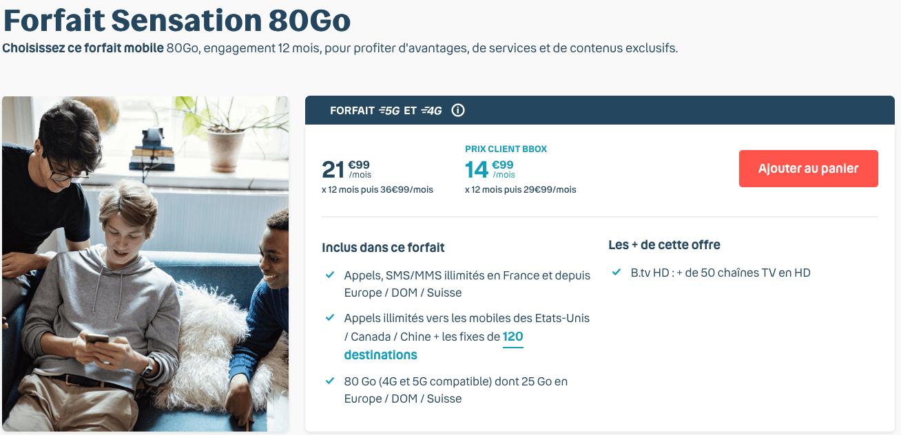L'offre 5G de Bouygues Telecom