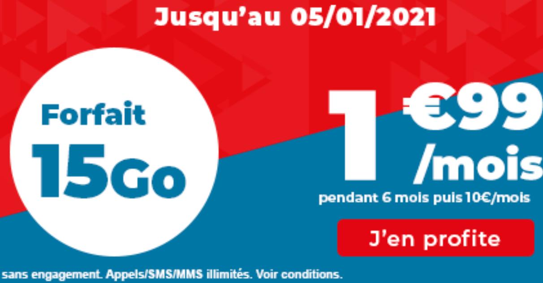 forfait 4G Auchan télécom offre