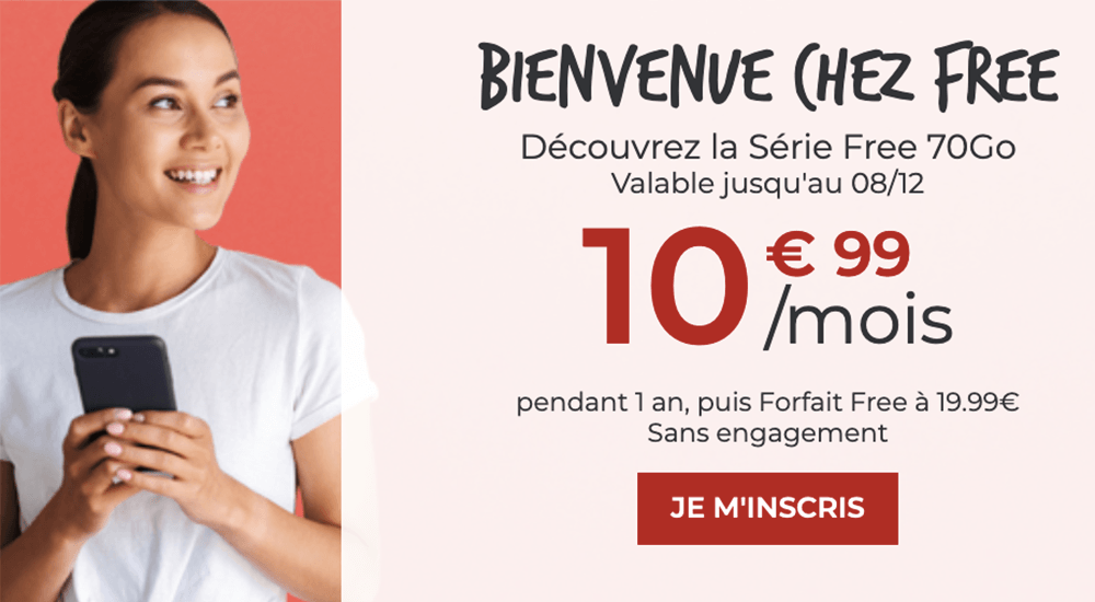 forfait 70 Go offre Free