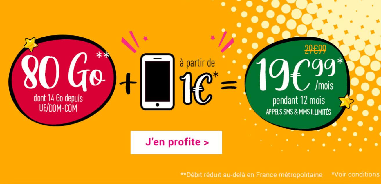 forfait 80 Go + mobile Coriolis