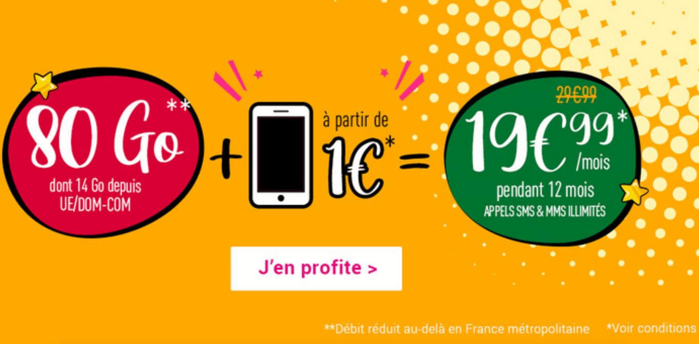 offre forfaits 4G + mobile Coriolis Télécom