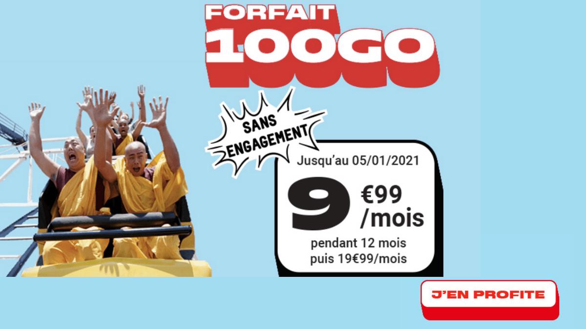 L'offre 100 Go de NRJ Mobile