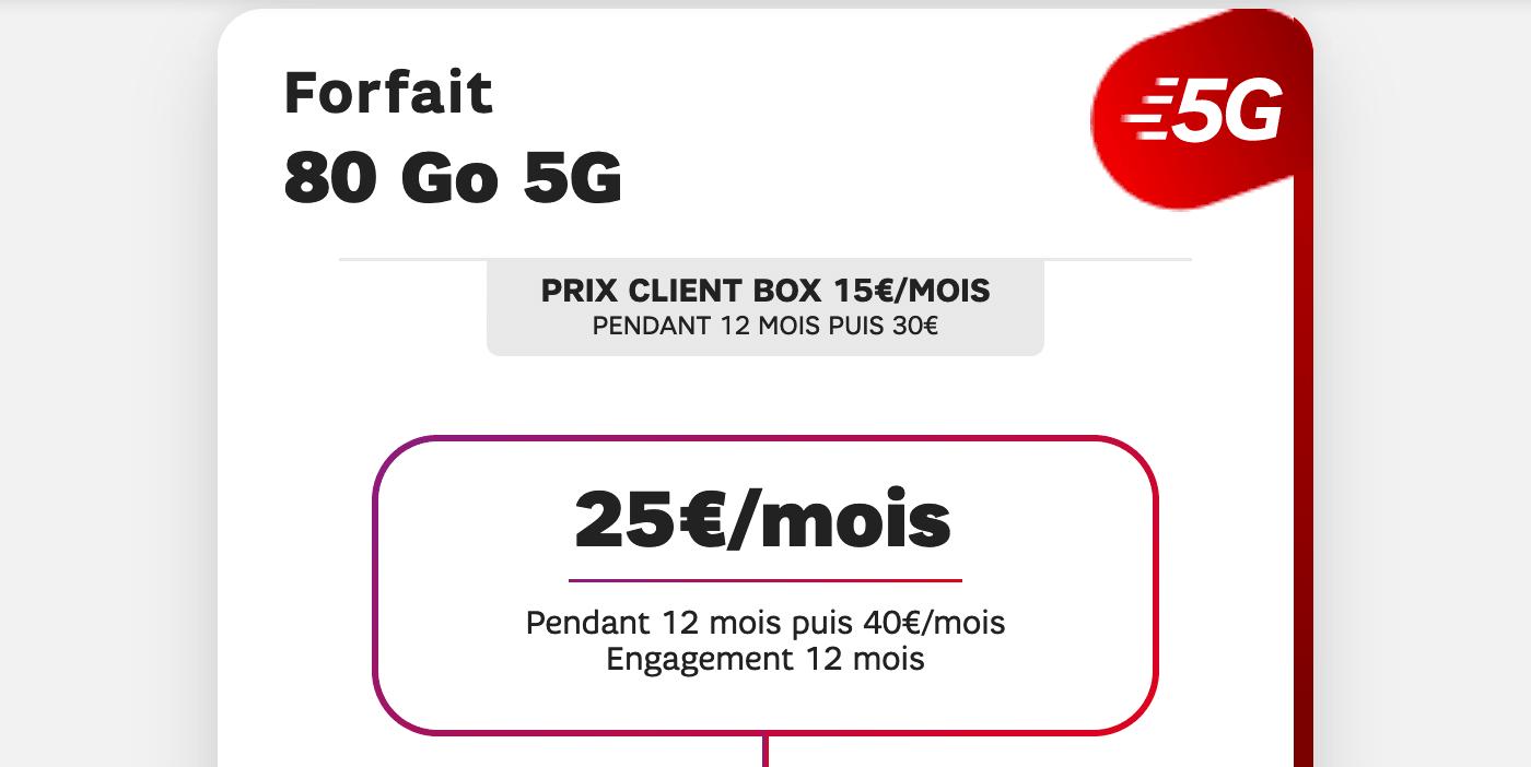 L'offre 5G de SFR