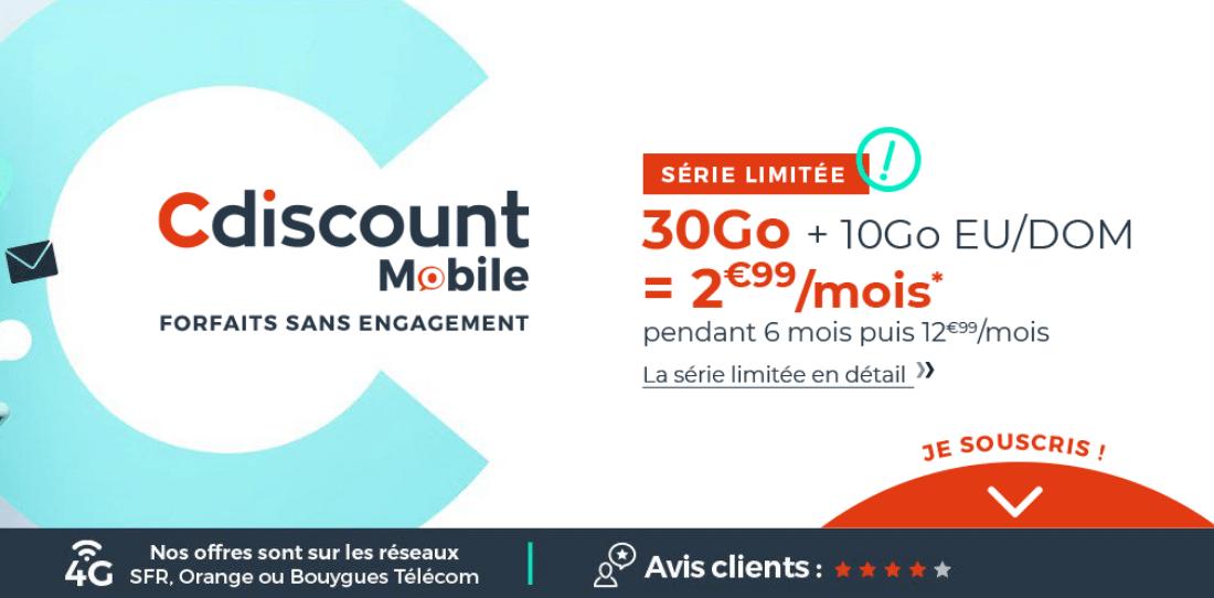 L'offre de Cdiscount Mobile