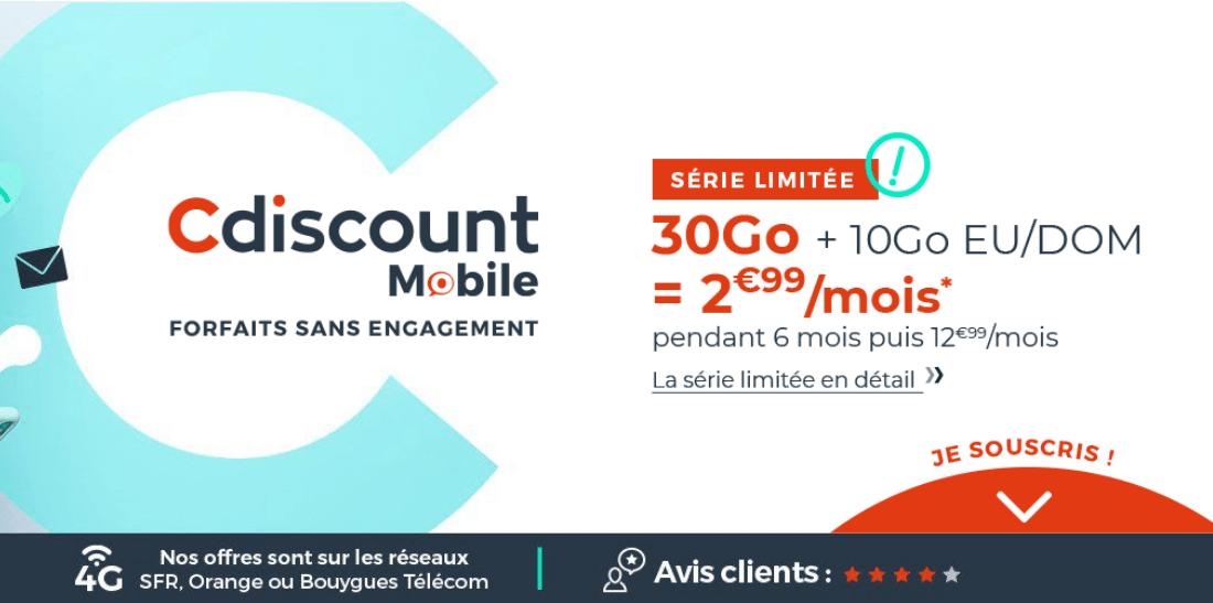 L'offre 30 Go de Cdiscount Mobile