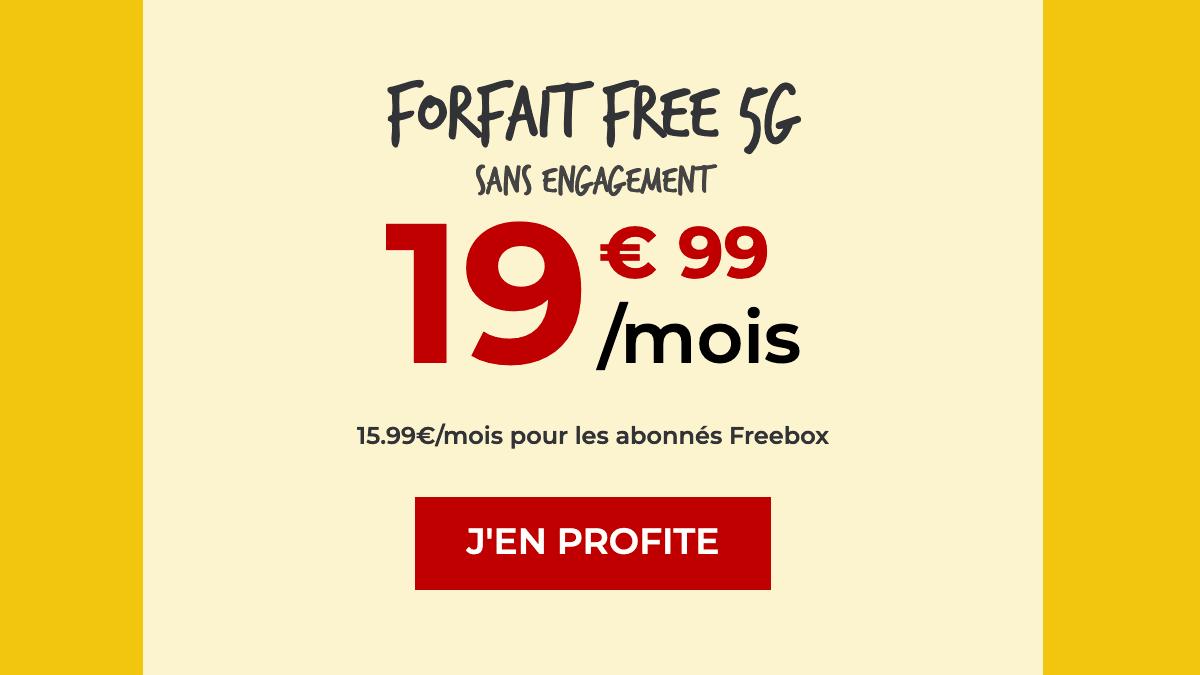 Le forfait 5G gratuit