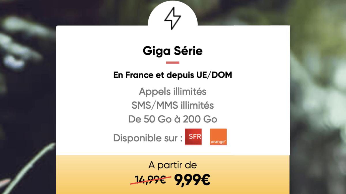 Le forfait 4G Giga Série