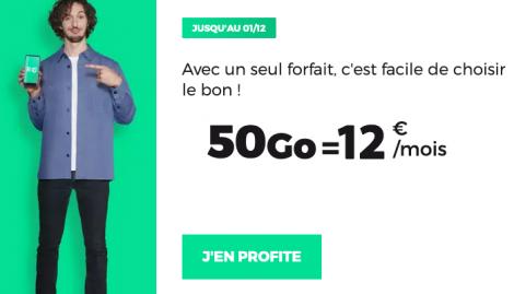 Forfait RED 50 Go en promo.