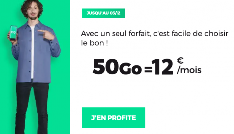 Promo forfait 50 Go RED by SFR.