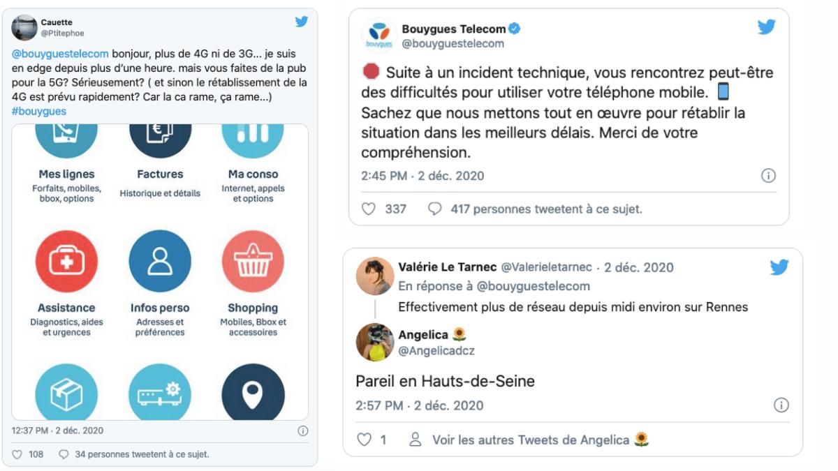 La panne Bouygues Télécom sur les réseaux sociaux