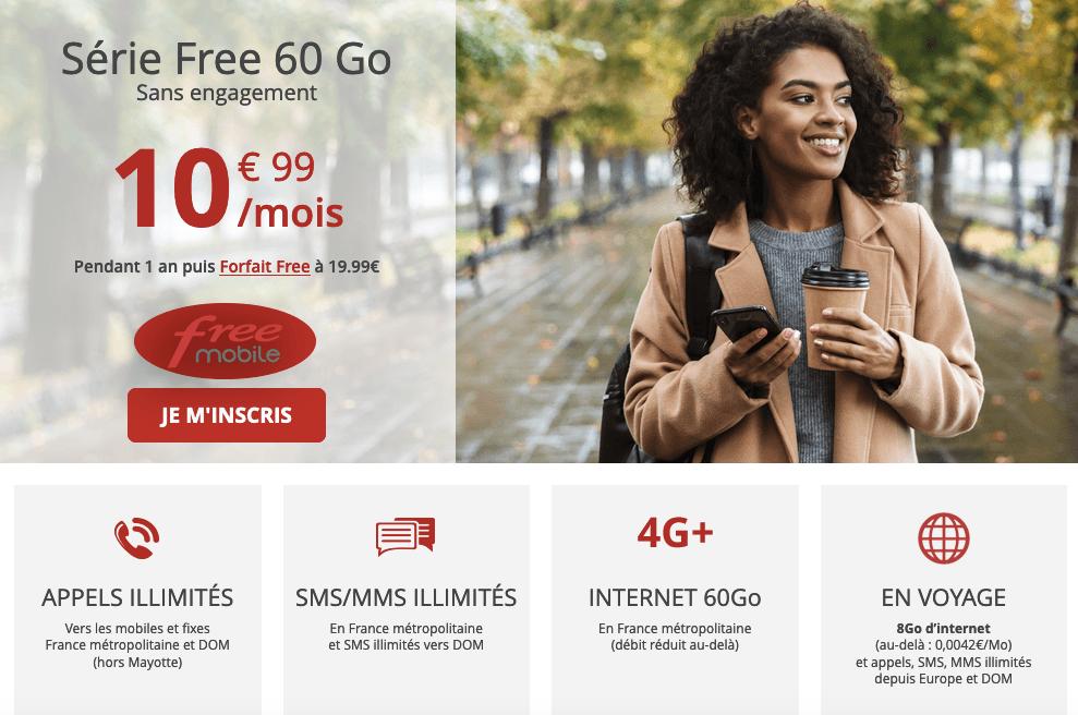 Série Free Forfait 60 Go