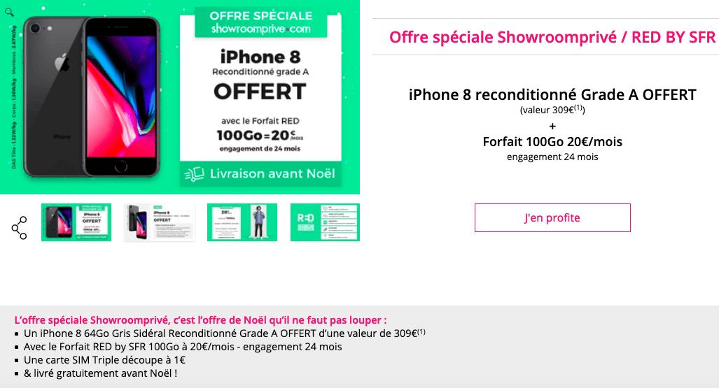 l'iPhone 8 avec showroom privé et RED by SFR