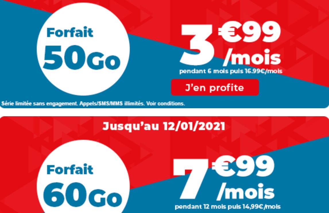 Auchan telecom 50 et 60 Go
