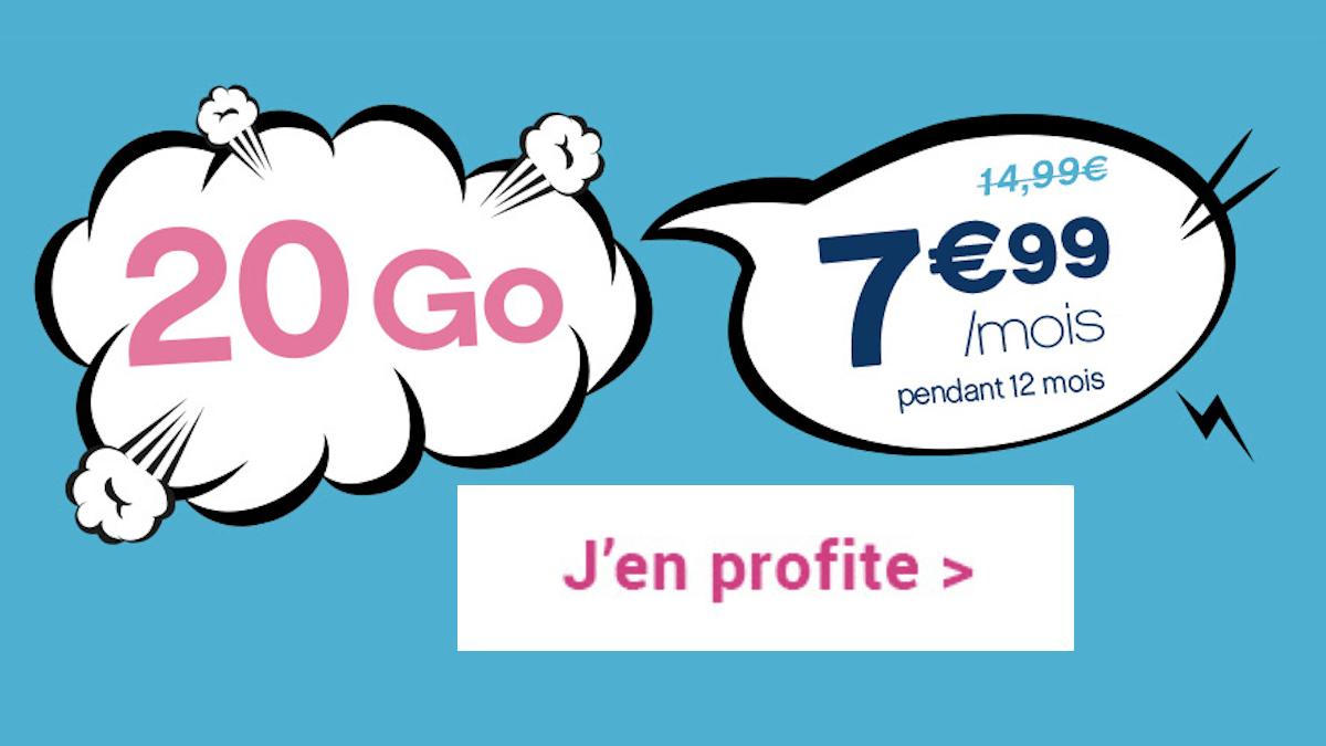 Coriolis Télécom promo forfait 4G 20 Go