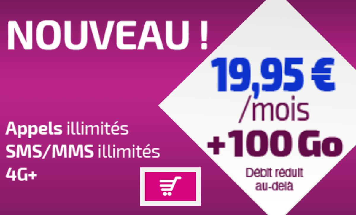 Forfait 4G 100 Go Réglo Mobile